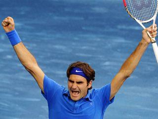 Federer bleu