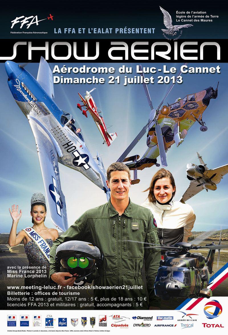 Affiche show aerien portrait