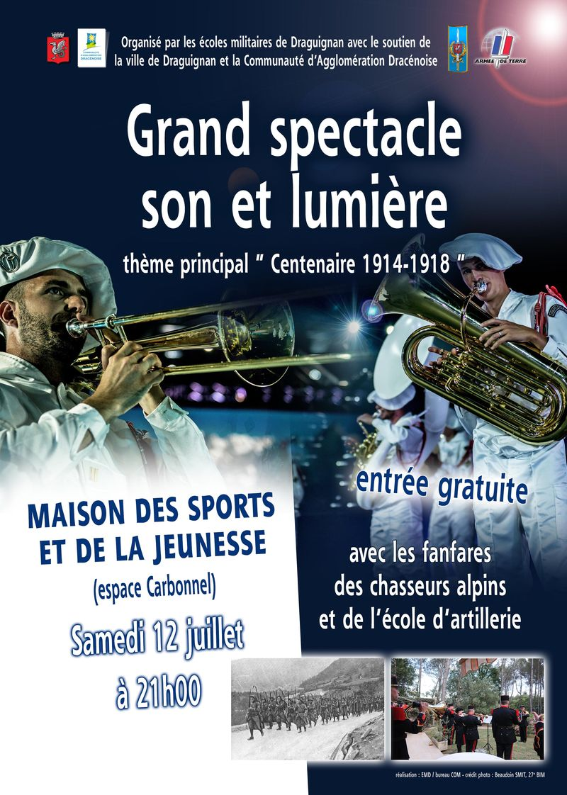 SPECTACLE SON ET LUMIERE BAT affiche A3