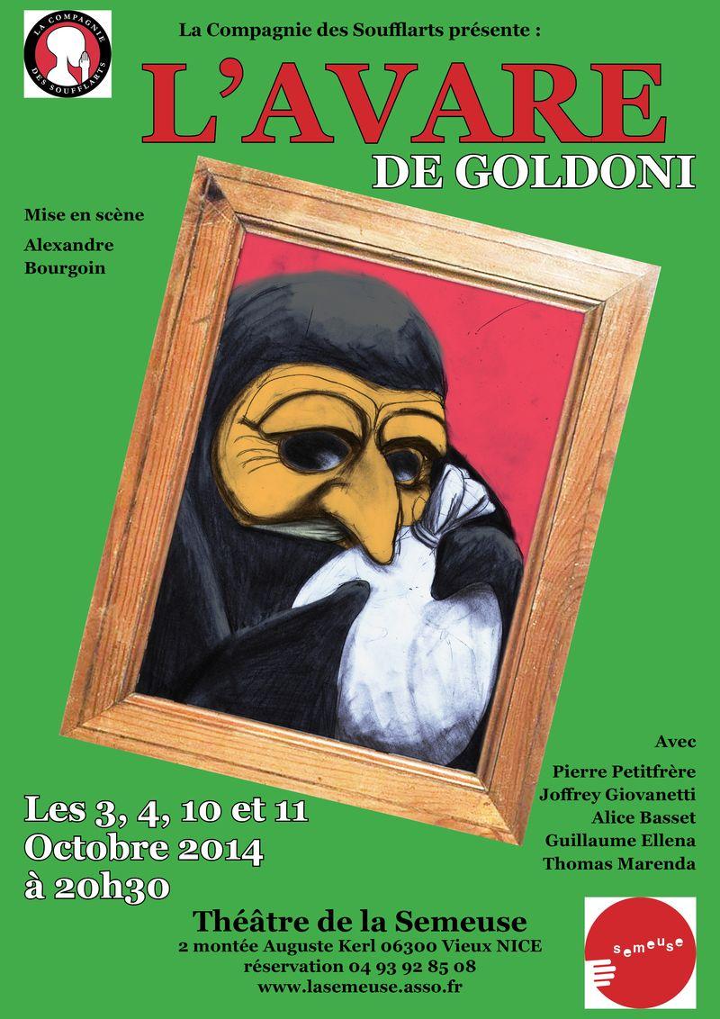 Affiche avare de goldoni octobre 2014