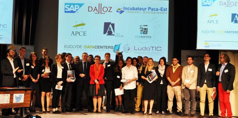 Finalistes + Jury + Pdt Telecom Valley +CdP Challenge Jeunes Pousses + coaches