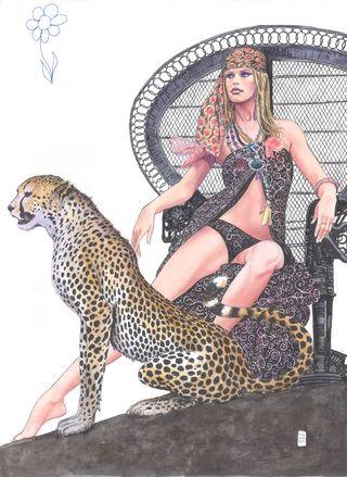 MANARA - BB Leopardo (c) Manara courtesy Millon