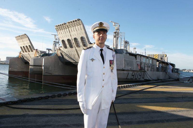 Un commando marine à la tête de la flotille amphibie de Toulon