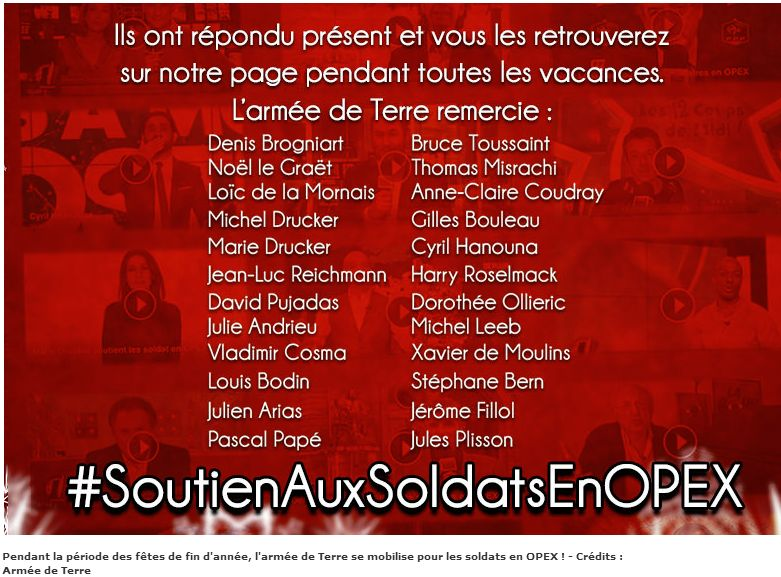 Pendant les fêtes, soutenez nos soldats en Opex!